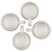 Le Creuset Cafe Collections Enameled Stoneware Meringue 13 Ounce Mug, Set of 4