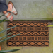 Entryways Handmade Coconut Fiber Mud Cloth Doormat
