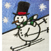 Snowman Embroidered Waffle Weave Kitchen Towel - Set of 2