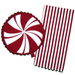 Holiday Peppermint Kitchen Towel and Oven Mitt Set
