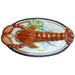 Lobster Oval Glazed Ceramic Server Platter