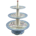 Cafe De Paris 3 Tier Dessert Plate Stand Ceramic