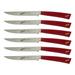 Berkel Elegance Red Stainless Steel Steak Knife, Set of 6