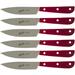 Berkel Synthesis Red Stainless Steel Steak Knife, Set of 6