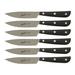 Berkel Synthesis Black Stainless Steel Steak Knife, Set of 6