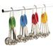 RSVP Stainless Steel Green Grip Measuring Spoons, Set of 5