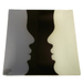 "Abstract Lover 12"" Glass Square Decorative Platter"