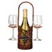 Hamptons Single Wicker Wine Bottle Caddy