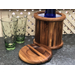 Kalmar Home Acacia Wood 3 Quart Ice Bucket