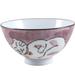 Pink Porcelain Sleeping Kitty Cat Asian Rice Bowl