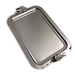 Carmel Ceramica Stainless Steel Oliveira Large Rectangular Tray