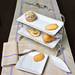 Carmel Ceramica Oliveira Stand with 2 Rectangular Trays