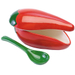 Progressive Red Ceramic Chili Pepper Salsa Bowl