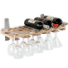 J.K. Adams Maple Wine and Stemware Rack
