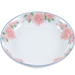 White Porcelain Pink Flower Asian Serving Bowl