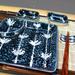 Blue Japanese Sauce Dishes, Chopsticks & Rest, 7 Piece Set