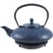 Japanese Tetsubin Blue Metallic Teapot 27oz Trivet