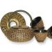 Japanese Style Tetsubin Brown Metallic Teapot, Trivet & Cup Set
