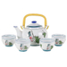 Japanese Peach Tree Teapot Set with 4 Tea Cups