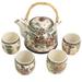 Four Beauties 5 piece Ceramic Tea Set