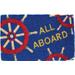 Entryways All Aboard Hand Woven Coir Nautical Theme Doormat