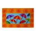 Sunny Umbrellas Mid-Thickness Hand Woven Coir Doormat, 18 x 30 Inch