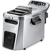 DeLonghi Digital Dual Zone-3 Stainless Steel Electric Fryer with Cycle Counter