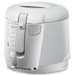 DeLonghi White Cool-Touch Deep Fryer with Oil Drain System