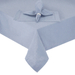 Vibrant Hemstitch Round Blue Cotton Fabric Tablecloth, 70 Inch