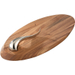 Nambe Wood Swoop Cheese Board with Knife