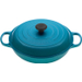 Le Creuset Signature Caribbean Enameled Cast Iron Braiser, 3.5 Quart