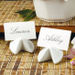 New East Stoneware Fortune Cookie Place Card Holder, Set of 4