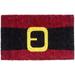 Entryways Santa's Belt Holiday Theme Hand Woven Coir Doormat