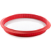 Lekue Red Silicone Quiche Pan with Ceramic Plate, 11 Inch