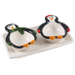 Boston Warehouse Earthenware Penguin Party 3 Piece Serving Set