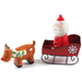 Boston Warehouse Earthenware Holly Jolly Santa and Rudolph Salt and Pepper Set