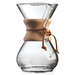 Chemex Six Cup Classic Glass Coffee Maker with Wood Collar and Tie