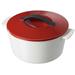 Revol Revolution Pepper Red Ceramic 1.75 Quart Cocotte with Lid