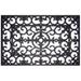 Entryways Fleur Di Lys Black Rubber Doormat, 18 x 30 Inch