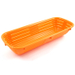 Scandicraft Orange Rectangular Plastic Bread Proofing Bowl, 4 Cup