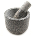 Scandicrafts Gray Polished Granite Mortar and Pestle