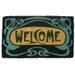 Entryways Art Deco Welcome Hand Woven Coir Doormat, 18 x 30 Inch