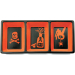 Omniware Orange and Black Halloween Potion No. 9 Earthenware Trio Candy Dish