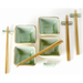 Chinese Jade Crackled Glass 12 Piece Rice Bowl Set