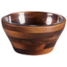 Fabio Viviani Heritage Collection Small 2 Piece Carovana Acacia and Glass Nested Salad and Serving Bowl