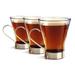 Bormioli Rocco Ypsilon Glass Cappuccino 7.5 Ounce Mug with Metal Handle