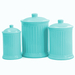 Omniware Simsbury 3 Piece Turquoise Ceramic Canister Set