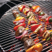 Fire Wire Stainless Steel Barbecue Skewer Set of 6 with Free Marinating Kit