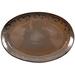 Ambiance Sunburst Brown Glazed Ceramic Platter