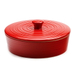 RSVP Red Stoneware 10 Inch Tortilla Warmer